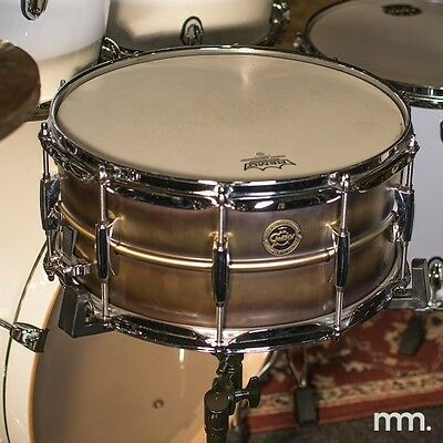 "Gretsch Brushed Brass 6.5x14"" Snare Drum S1-6514-BB"