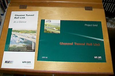 CHANNEL TUNNEL RAIL LINK BOOKLETS. PROJECT BRIEF June 1997 AT A GLANCE 2001 (2)