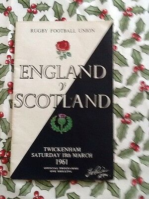 England V Scotland 1961- Twickenham  & Match Ticket