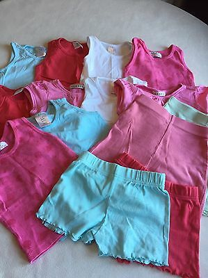Baby Girls Clothes Bundle 18-24 Months - Tops & Shorts , 15 Items