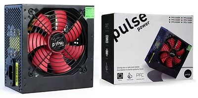 Pulse 550W PSU, ATX 12V, Active PFC, 2 x SATA, 120mm Silent Red Fan
