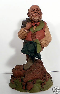 """Tom Clark Signed Gnome Thistle Figure 11"""" Tall 1984"""