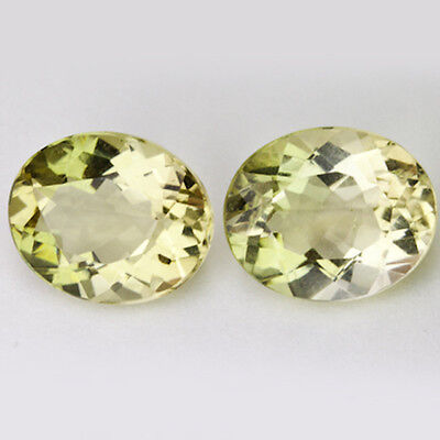 QUARTZ MATCHING PAIR UNTREATED NATURAL MINED TOTAL 6.55Ct  MF628