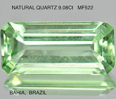 QUARTZ RARE NATURAL GREEN COLOUR HUES UNTREATED 9.08Ct  MF522