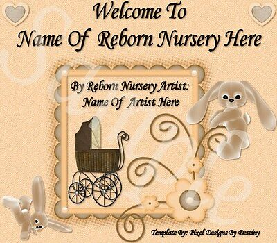 ~Sweet Sunshine Reborn Baby Auction Template With/without Music+Free Logo~Doua