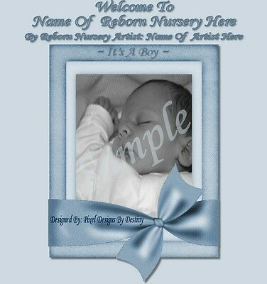 ~Precious Moments Boy Reborn Baby Auction Template With/without Music+Free Logo~
