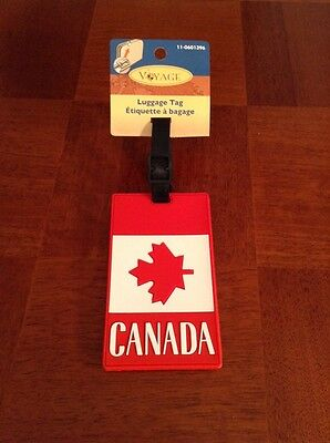 Canada Maple Leaf luggage tag ID New With Tags.