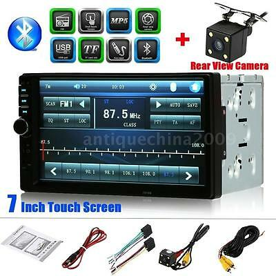 "7"" Car Stereo FM Radio MP5 Player Touch USB/TF Aux Input Rear View Camera D8O7"