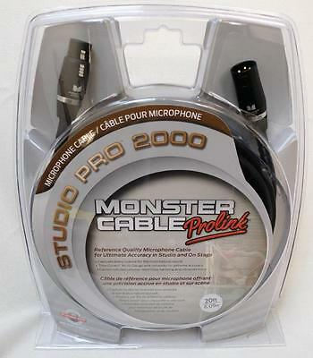 Monster Cable Studio Pro 2000 XLR Microphone Cable 20ft NEW