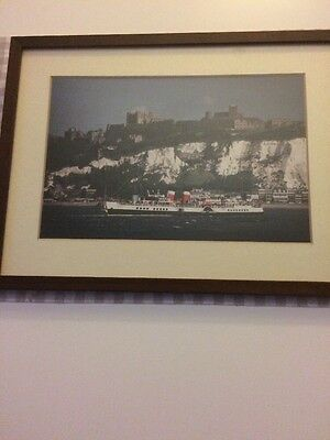PS WAVERLEY paddle Steamer Quality Large Framed Picture Dover White Cliffs