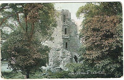 """PPC Of """"  Kirkoswald Castle """" posted pre 1920"""