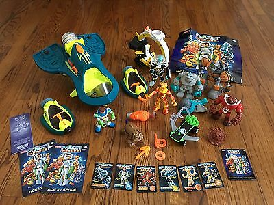 Huge Lot of  Fisher Price Planet  Rescue Heroes Action Figures Vehicles Shuttle