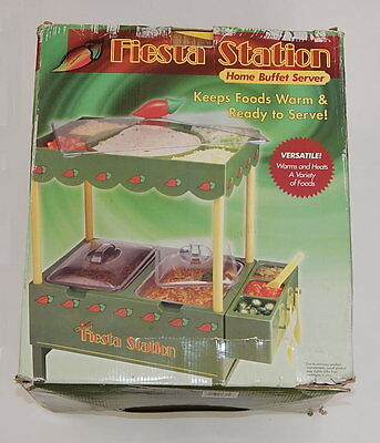 Fiesta Station Buffet Home Server with Warming Tray Cinco De Mayo Mexican Party