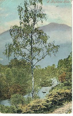 """PPC Of """"  A Highland Glen  posted 1913"""