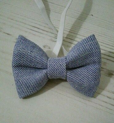 Baby Boys & Kids Handmade Blue Bow Tie for Wedding Christening Children