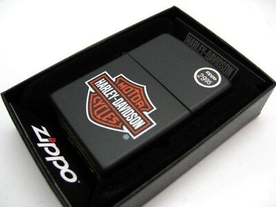 ZIPPO Full Size Black Matte HARLEY-DAVIDSON Logo Windproof Lighter! 218HD.H252