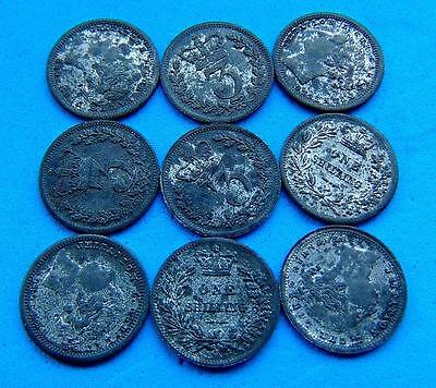 Ludwig Christian Lauer VICTORIA  SHILLING  SIXPENCE & 3PENNY ..LUCIDO_8  COINS