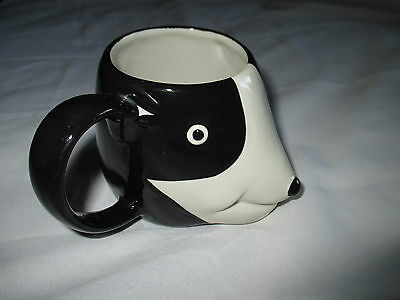 Wade Pottery England Black & White Earthenware Panda Mug