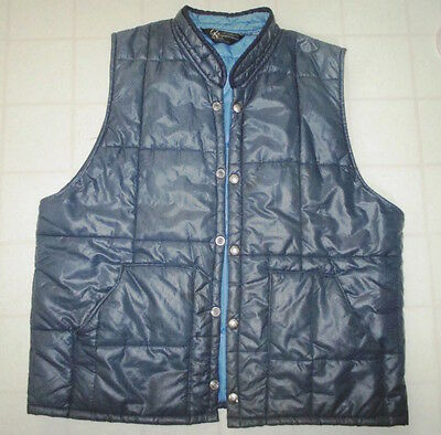 Vtg Columbia Sportswear Vest Cold Weather Hiking Vest Fishing Vest THIN PUFFER L