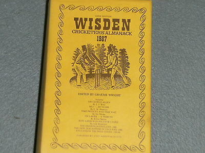 Wisden 1987 HARD BACK FREE P&P UK
