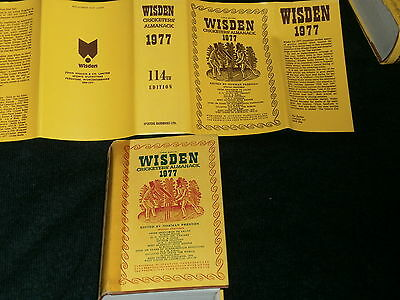 Wisden 1977 HARD BACK FREE P&P UK Includes Original and Replacement Dust Jacket