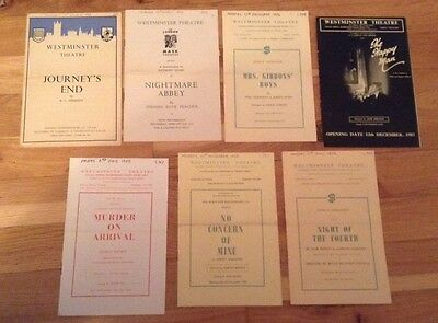 7 WESTMINSTER THEATRE 1950s programmes