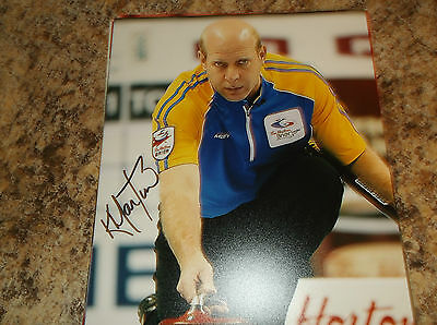 Kevin Martin Canada Curling 2010 Olympic Gold Medal Signed 8 X 10 Matte Photo C