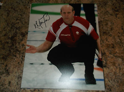 Kevin Martin Canada Curling 2010 Olympic Gold Medal Signed 8 X 10 Matte Photo A