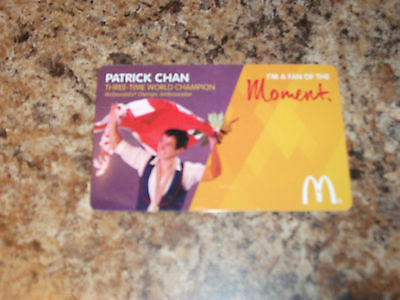 Mcdonald's Patrick Chan Olympic Mint Gift Card From Canada Bilingual