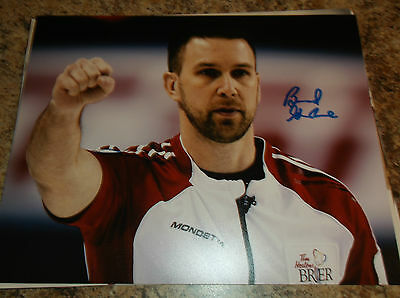 Brad Gushue Canada Curling 2006 Olympic Gold Medalist Signed 8X10 Matte Photo B