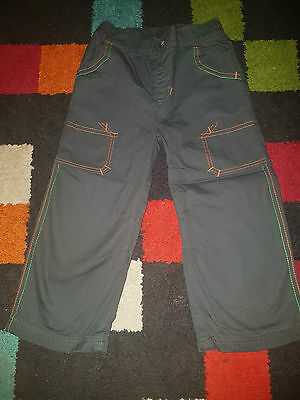 Boys Smart Lined Trousers 2-3 Years Vgc
