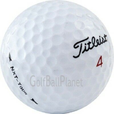 100 AAA+ Titleist NXT Tour Used Golf Balls + Free Tees