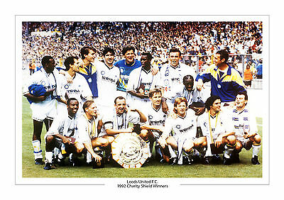 Leeds United Charity Shield First Division Champions A4 Print Photo Utd