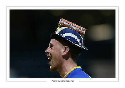 Iconic Pontus Jansson's Magic Hat Leeds United A4 Print Photo Utd
