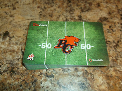 2014 B.c. Lions Tim Hortons Limited Edition Gift Card Zero Dollars