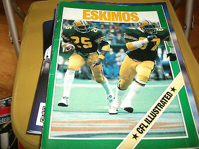 Cfl Illustrated October 3 1981 Lions Vs Eskimos