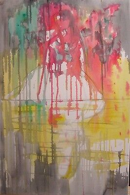 DREAMS LARGE ORIGINAL OIL PAINTING on Canvas Abstract Wall Art Picture Modern