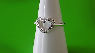 Pandora Heart Ring. Sterling Silver Size 58  S925 ALE