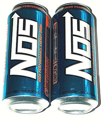 New 2 Lot NOS 16oz Energy High Performance Enhanced Blue Drink Full Cans CMPLX6