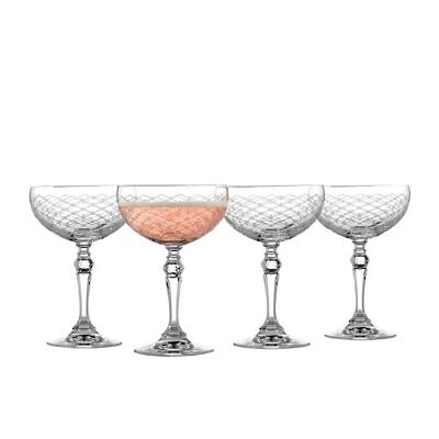 NEW Rona Helmsley Champagne Saucer 260ml Set of 4 (RRP $50)