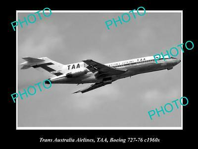 Old Historic Aviation Photo Of Taa Trans Australia Airlines Boeing 727 1960