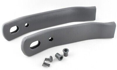 82-92 Camaro/Firebird Seat Belt Receiver Sleeves Gray Pair New Reproduction