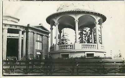 Benches Around Bandstand~Two-Story Ionic Columns~Real Photo Postcard c1912