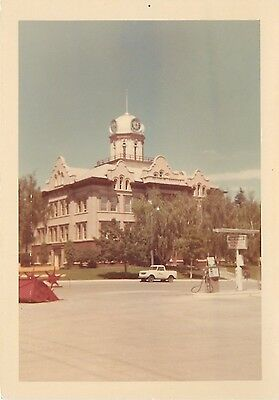 Lewiston Montana~Gas Station Across From Courthouse~!970s Photograph