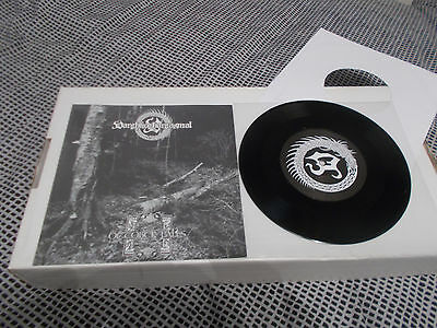 "October Falls / Varghkoghargasmal ‎– Split 7"" EP Ltd 300 copies! BLACK METAL"