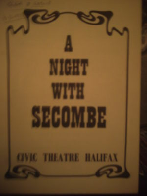 Halifax Civic Theatre 1977 'a Night With Secombe'  Programme.
