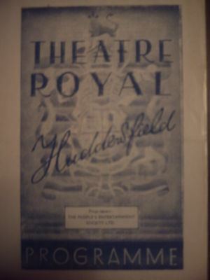 Huddersfield Theatre Royal1948 'i Loved You' Vincent Shaw Programme. .