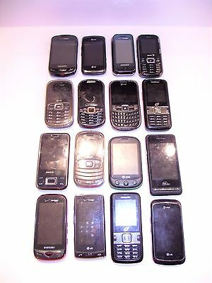 Lot Of 16 Cell Phones Used Parts Or Repair Or Gold Scrap Recovery Free S/H A123