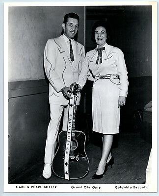 1950s PEARL & CARL BUTLER Vintage COLUMBIA RECORDS Publicity Photo COUNTRY MUSIC