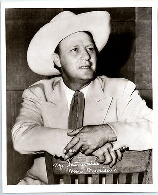 1950's MOON MULLICAN Vintage WESTERN PIANO Publicity Photo COUNTRY MUSIC